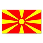 Macedonia Rectangle Sticker