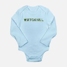 Watch Hill, Vintage Camo, Long Sleeve Infant Bodys