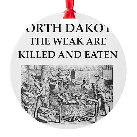 north dakota Round Ornament