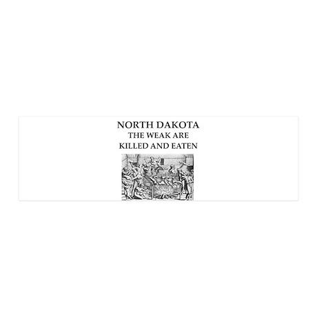 north dakota 36x11 Wall Decal