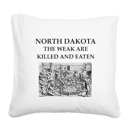 north dakota Square Canvas Pillow