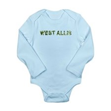 West Allis, Vintage Camo, Long Sleeve Infant Bodys