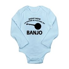 Banjo silhouette designs Long Sleeve Infant Bodysu