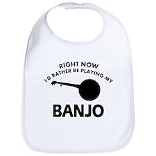 Banjo silhouette designs Bib
