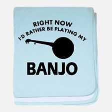 Banjo silhouette designs baby blanket