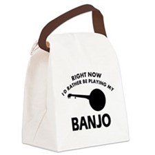 Banjo silhouette designs Canvas Lunch Bag
