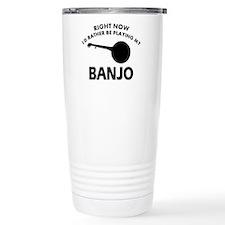 Banjo silhouette designs Travel Mug