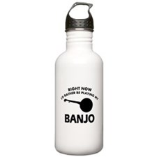 Banjo silhouette designs Water Bottle