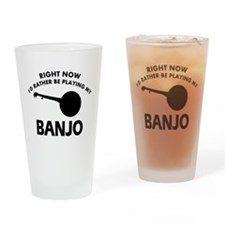 Banjo silhouette designs Drinking Glass