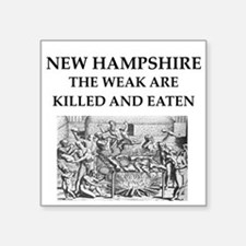 "new hampshire Square Sticker 3"" x 3"""