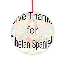 Thanks for Tibetan Spaniels Ornament (Round)