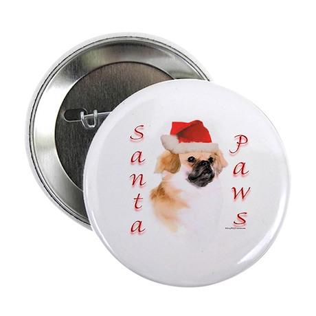 Santa Paws Tibetan Spaniel Button