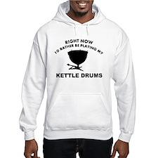 Kettle drum silhouette designs Jumper Hoody