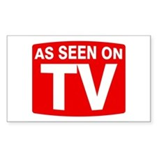 As Seen on TV Rectangle Decal