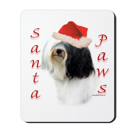 Santa Paws Tibetan Terrier Mousepad