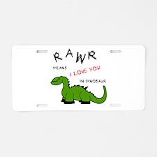 DinoRawr.png Aluminum License Plate