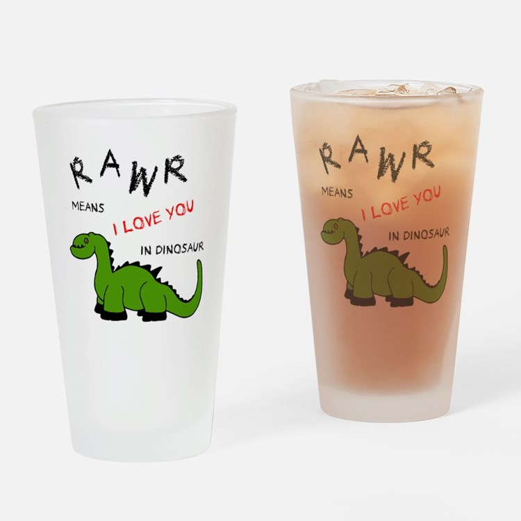 DinoRawr.png Drinking Glass