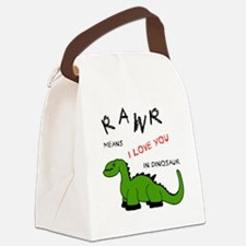 DinoRawr.png Canvas Lunch Bag