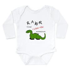 DinoRawr.png Long Sleeve Infant Bodysuit
