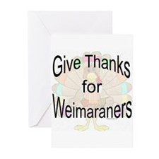 Thanks for Weimaraner Greeting Cards (Pk of 10