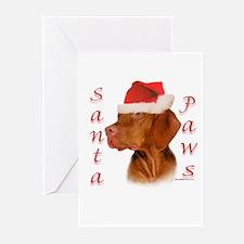 Santa Paws Vizsla Greeting Cards (Pk of 10)