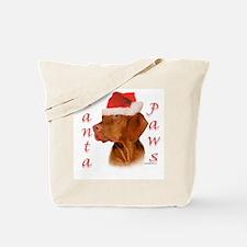 Santa Paws Vizsla Tote Bag