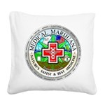 Medical Marijuana Square Canvas Pillow