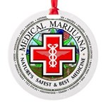 Medical Marijuana Round Ornament
