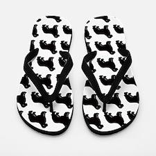 newf silhouette Flip Flops