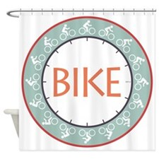Bike Shower Curtain