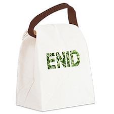 Enid, Vintage Camo, Canvas Lunch Bag