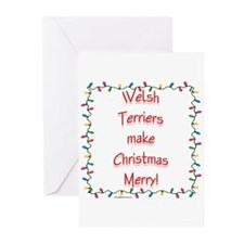 Merry Welsh Terrier Greeting Cards (Pk of 10)