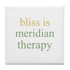 bliss is MERIDIAN THERAPY  Tile Coaster