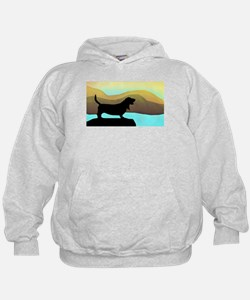 Basset Hound By The Sea Hoodie