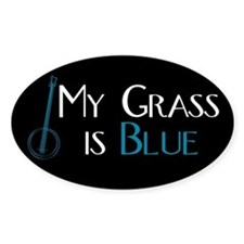 My Grass is Blue Rectangle Bumper Stickers