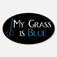 My Grass is Blue Rectangle Decal