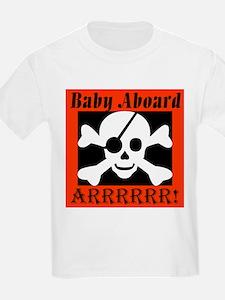 Baby Aboard Arrr Kids T-Shirt