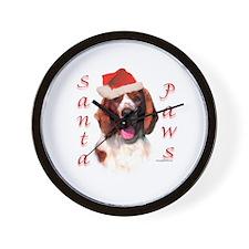 Santa Paws Welsh Springer Wall Clock