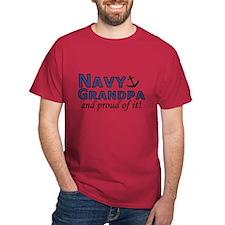 Navy Grandpa Cardinal Shirt