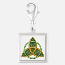 Celtic Trinity Knot Silver Square Charm