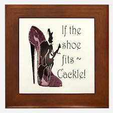 If the shoe fits, Cackle Framed Tile