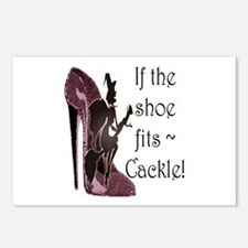 If the shoe fits, Cackle Postcards (Package of 8)