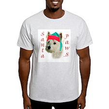 Santa Paws Westie Ash Grey T-Shirt