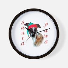 Santa Paws Whippet Wall Clock
