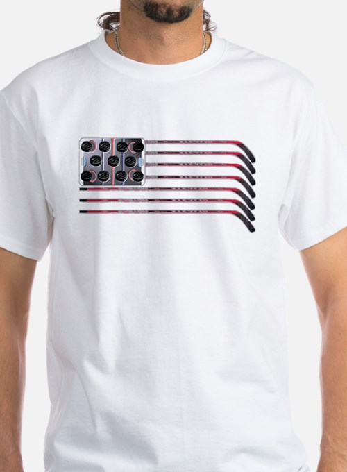 US Hockey Flag T-Shirt T-Shirt