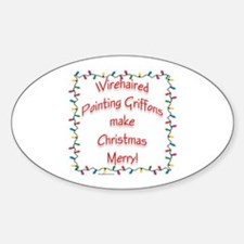 Merry Wirehaired Oval Decal