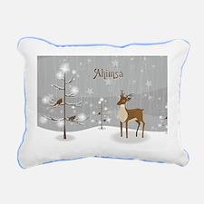 Ahimsa Holiday Rectangular Canvas Pillow