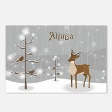 Ahimsa Holiday Postcards (Package of 8)