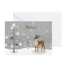 Ahimsa Holiday Greeting Cards (Pk of 20)