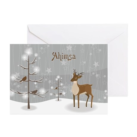 Ahimsa Holiday Greeting Cards (Pk of 20)